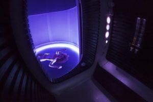 Cabine spatiale de flottaison, centre Meiso Paris