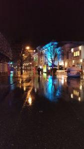 Le Prater de Vienne sous la pluie