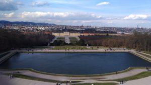 Schönbrunn et Vienne vus de la Gloriette