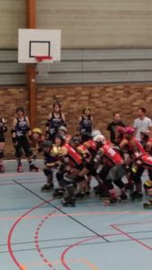 Roller derby, photo floue