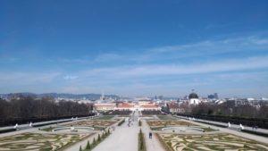 Vue sur le Belvédère à Vienne