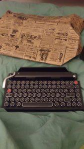Clavier machine à écrire pour mes 39 ans
