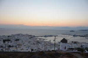 Mykonos, soleil couchant