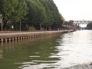Le canal de l'Ourcq à la Villette