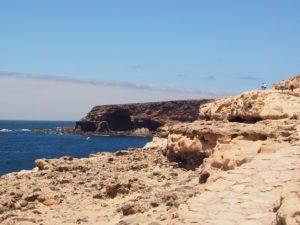 Le chemin pour rejoindre les grottes à Ajuy