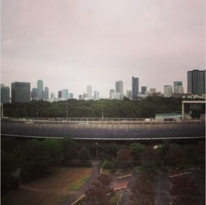 La skyline de Tokyo vue du yurikamome