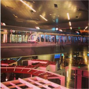 Le monorail de l'aéroport de Doha