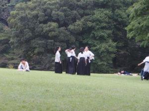Elèves du Dojo au coeur de Meiji-jingu à Tokyo