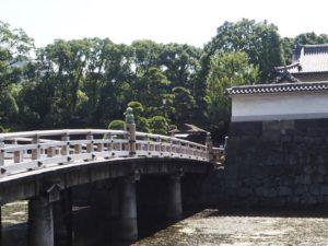 Le pont qui mène au jardin impérial de Tokyo