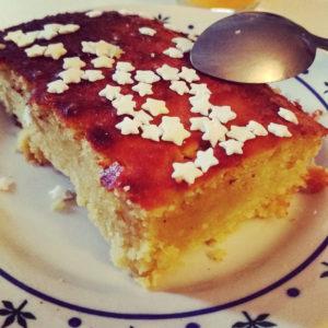 Frangipane en gâteau