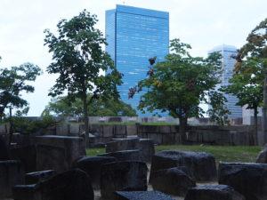Osaka vu du parc du château