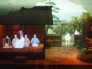 Château d'Osaka, dioramas de la vie de Toyotomi Hideyoshi