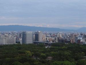 Vue du château d'Osaka