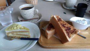 Petit déjeuner au pied du Mont Fuji
