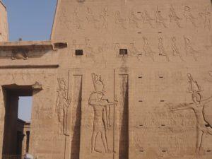 Le triomphe d'Horus sur le mur d'Edfou