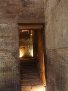 Dans le temple d'Edfou