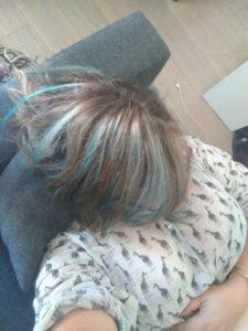 Mes cheveux bleus