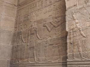 Gravures du temple de Philae
