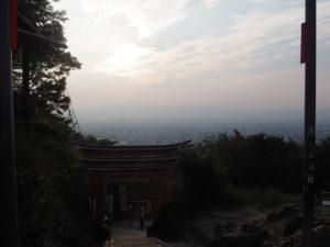Vue sur Kyoto du temple Inari