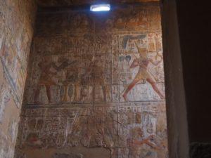 Des hiéroglyphes à Louxor