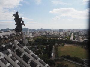 Vue du sommet du château Hmeji