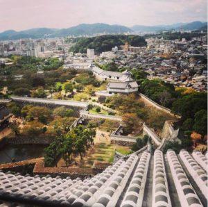 Vue du sommet du château Himeji