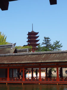 La pagode du sanctuaire de Miyajima