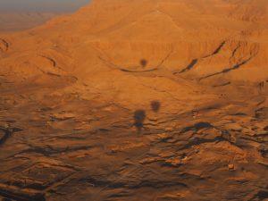 Vallée des rois, panorama de montgolfière