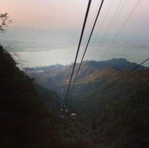 Vue du téléphérique de Miyajima