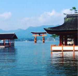 Le sanctuaire flottant et le torii de Miyajima