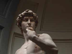 Le David de Michelangelo à la galleria dell'academia