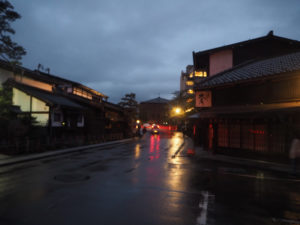 Takayama, tombée de la nuit