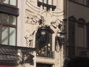Un immeuble Art nouveau à Florence