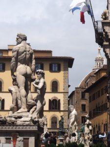 De la sculpture dans les rues de Florence