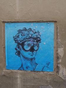 David en mode street art à Florence