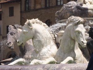 La fontaine de Neptune à Florence