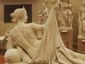 Le coin sculpture à la galleria dell'academia