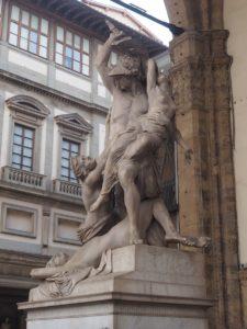 Statue de la loggia Lazzi à Florence