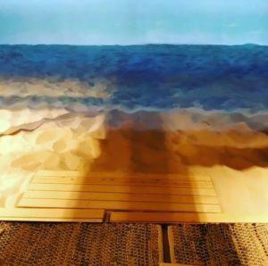 Le bar de la plage au Shinjuku VR zone