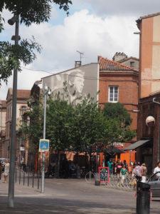Fresque Claude Nougaro à Toulouse