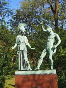 Statue Athéna et Hephaïstos