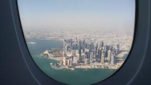 Doha vue du hublot