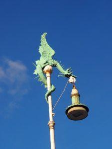 Lampadaire à Copenhague