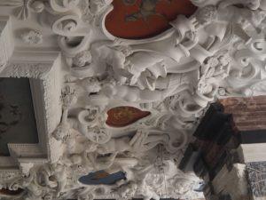 Château de Rosenborg : plafond en relief
