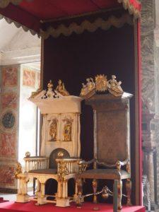 Château de Rosenborg : la salle du trône