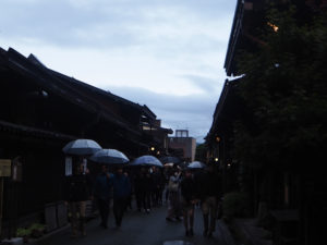 Takayama sous la pluie