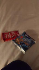 Kitkat et galette de riz