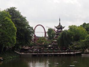 Vue chinatown au parc Tivoli