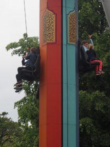 Manège à chute au parc tivoli