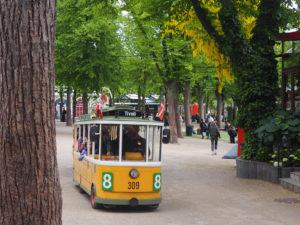 Mini bus au parc Tivoli